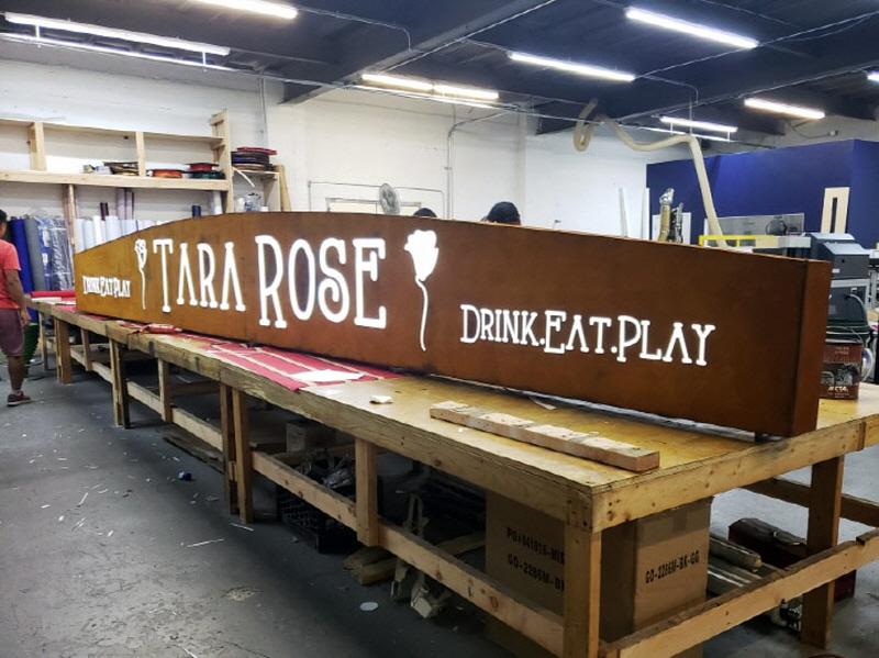 Tara Rose Stencil Cut Rust Light Box